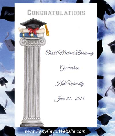 Graduation Cap and Diploma Seed Favor Packet Party Favors