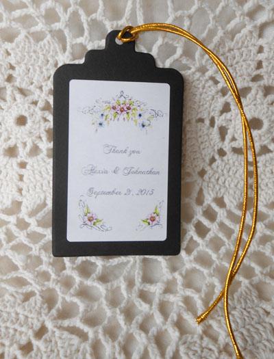 Floral Romance Wedding Gift Favor Hang Tags