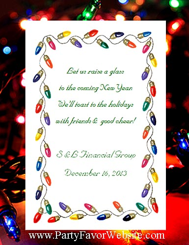 Holiday Lights Party Seed Favors and Tea Packet Favors