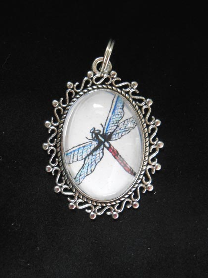 Dragonfly Silver Jewelry Filigree Pendant