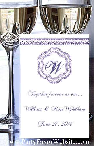 Timeless Monogram Wedding  & All Occasion  Seed  Favor Packets