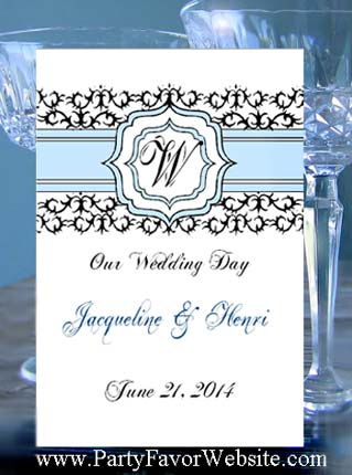 Classic Damask Monogram Wedding, Anniversary & All Occasion Seed  Favor Packets