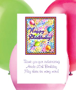 Birthday Balloons Party Seed  Favors & Tea Packets