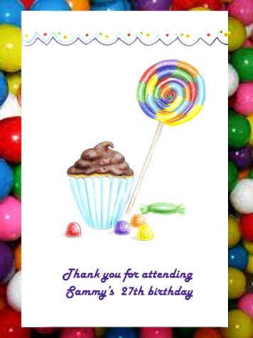 Cupcakes, Gum Drops & Lollipop Birthday Party Seed  Favors & Tea Packets