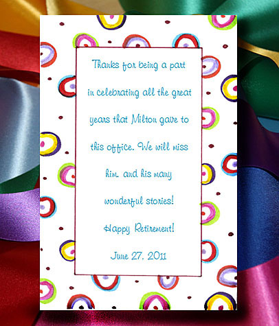 Party Circles Seed  Favors  & Tea Packets