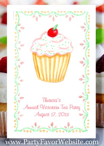 Cupcake with a Cherry on Top Party Seed Favors  & Tea Packets