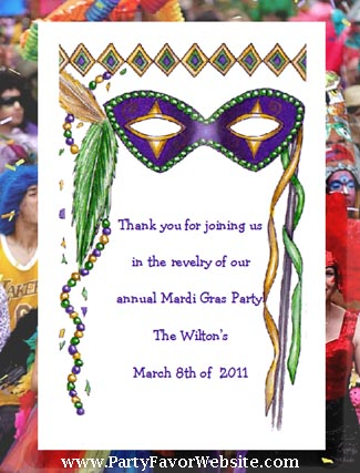 Masquerade Mask Mardi Gras Seed Favors  & Tea Packets
