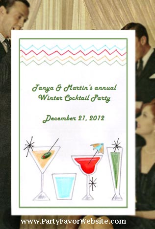 Retro Cocktail Party  & 60's Sixtie theme Retro Birthday Retro Seed Favors  & Tea Packets