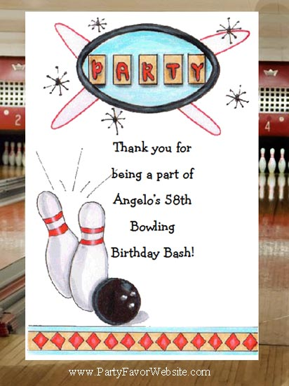 Retro Bowling Party Party &  50's & 60's Fifties & Sixtie theme Retro BirthdaySeed Favors  & Tea Packets