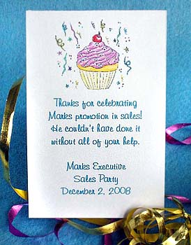 Pink Cupcake Birthday Party Seed  Favors  & Tea Packets