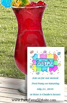 Partridge Party  Birthday Seed Favors  & Tea Packets