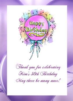 Happy Birthday Balloon Birthday Party  Seed  Favors  & Tea Packets