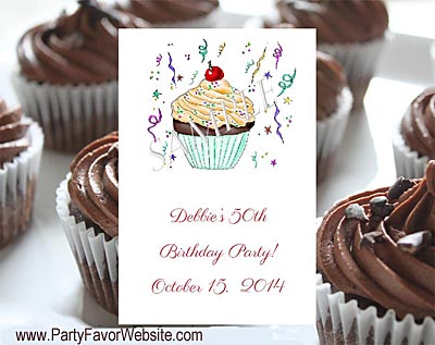 Chocolate Cupcake Flower Seed Favors  & Tea Packets