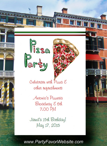 Pizza Party Seed Favors  & Tea Packets