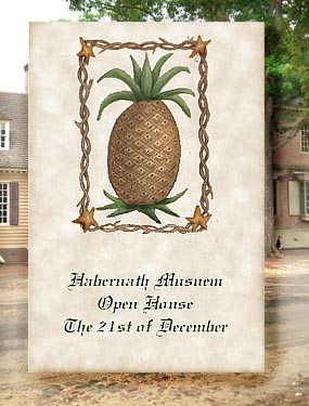 Colonial Pineapple Primitive Seed Favors  & Tea Packets