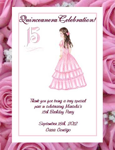 Quinceanera Sweet 15 Seed Favor