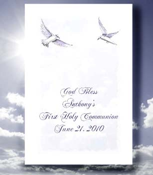 Doves in Flight  Christian Communion, Confirmation, Baptism, Christening Seed  Favors  & Tea Packets