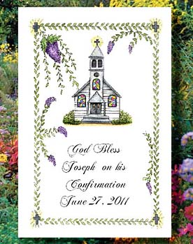 Sacred Church Christian Flower Seed  Favors  & Tea Packets