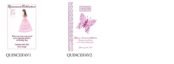 Quinceanera Party Tea Favor Packets