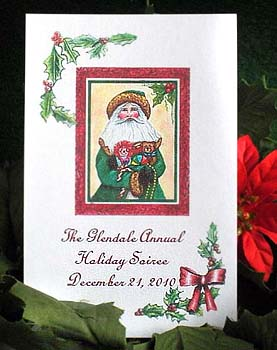 Santa Claus with Toys Seed Favors