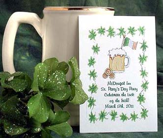 Luck of the Irish Flower Seed  Favors & Tea Packets