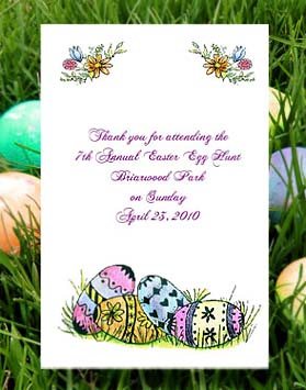 Colored Easter Eggs Seed Favor Packets