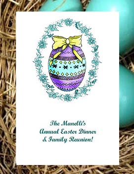 Easter Egg in Floral Oval Seed Favor Packets