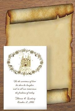 Fairytale Castle (Sepia) Wedding Rennaisance theme  Seed Favors  & Tea Packets