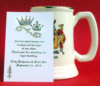 King and Queen Renaissance Crowns Seed Favors  & Tea Packets