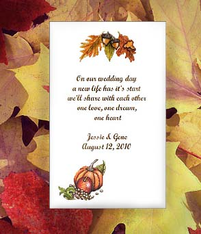 Autumn's Bounty Fall theme Seed Favors & Tea Packets