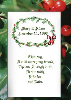 Mistletoe and Berries Winter Theme Seed Favors & Tea Packets