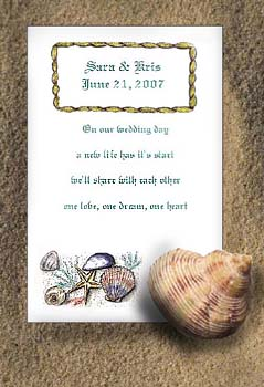 Seashells Beach Theme, Destination & All Occasion Seed Favors  & Tea Packets