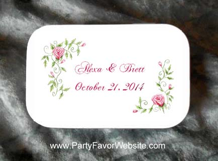 Roses Wedding Mint Tin Party Favors also for anniversary parties