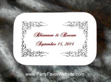 Dynamic Static Wedding Mint Tin Favors