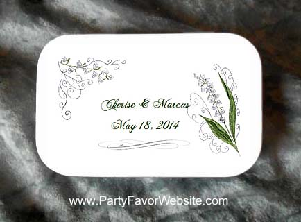 Lily of the Valley Wedding Mint Tin Favors
