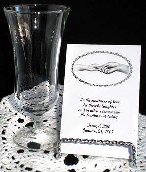 Hand in Hand Wedding & Anniversary Seed Favors  & Tea Packets