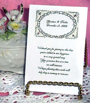 Floral Frame Wedding Seed Favors  & Tea Packets