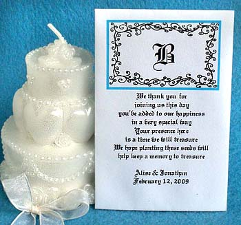 Signature Swirls Wedding Seed Favors  & Tea Packets