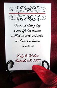 Fashionable Flourish Wedding, Anniversary etc.Seed Favors & Tea Packets