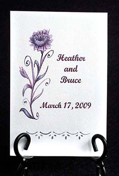 Pleasing Purple Flower Seed Favor Packets for Weddings and purple theme events