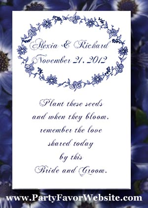 Wedgewood Blue Wedding Seed Favors & Tea Favor Packets