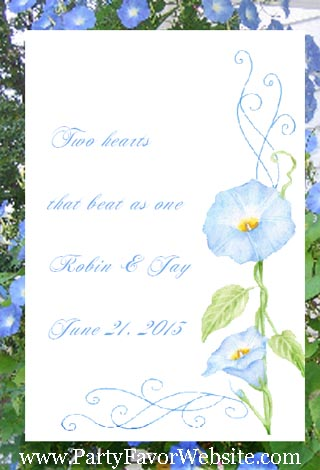 Blue Morning Glory  Wedding & All Occasion Seed Favors