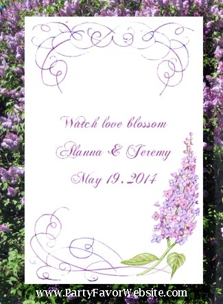 Lilac Wedding  Seed Favors & Tea Favor Packets