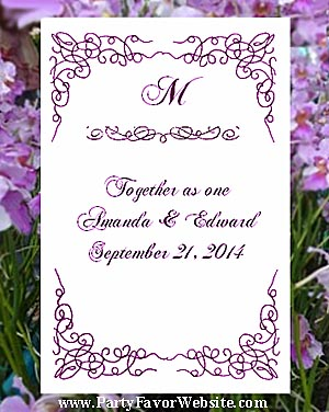 Radiant Orchid Wedding Seed Favors & Tea Favor Packets