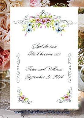 Floral Romance Romantic Wedding Seed Favors & Tea Favor Packets