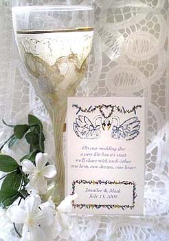 Two Graceful Swans Wedding Seed Favors  & Tea Packets