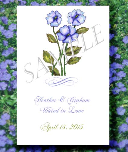 Periwinkle Flower Design Seed Favor Packets