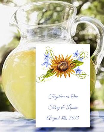 Golden Sunflower Seed Favor Packets
