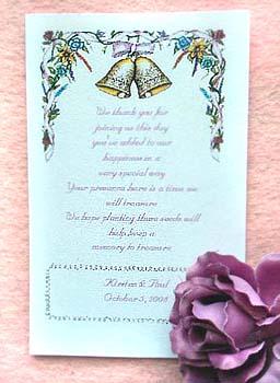 Wedding Bells Seed Favors  & Tea Packets