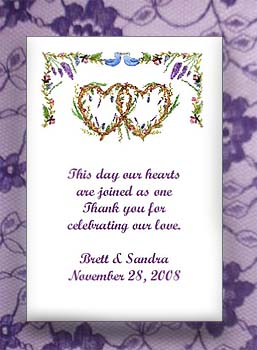 Double Hearts Wedding  Seed Favors  & Tea Packets